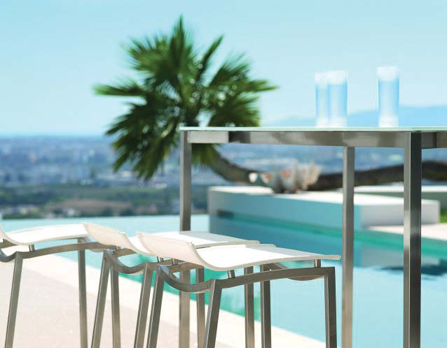 OCEAN CLUB Barhocker und Bartisch mit wetterfester TRESPA Tischplatte